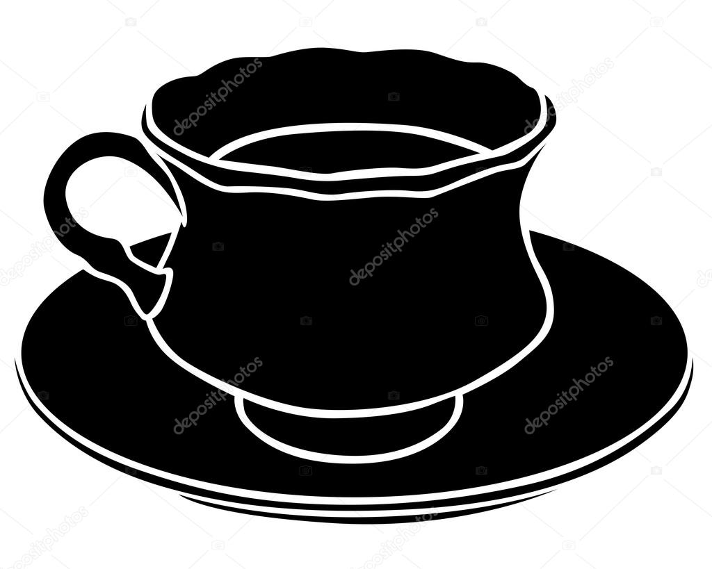 silhouette of a teacup stock vector agrino 53342505