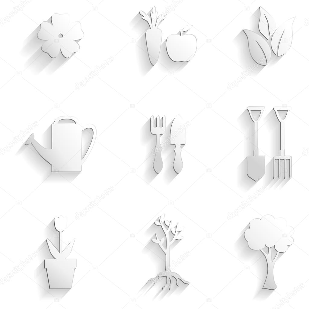 Set of garden and nature icon