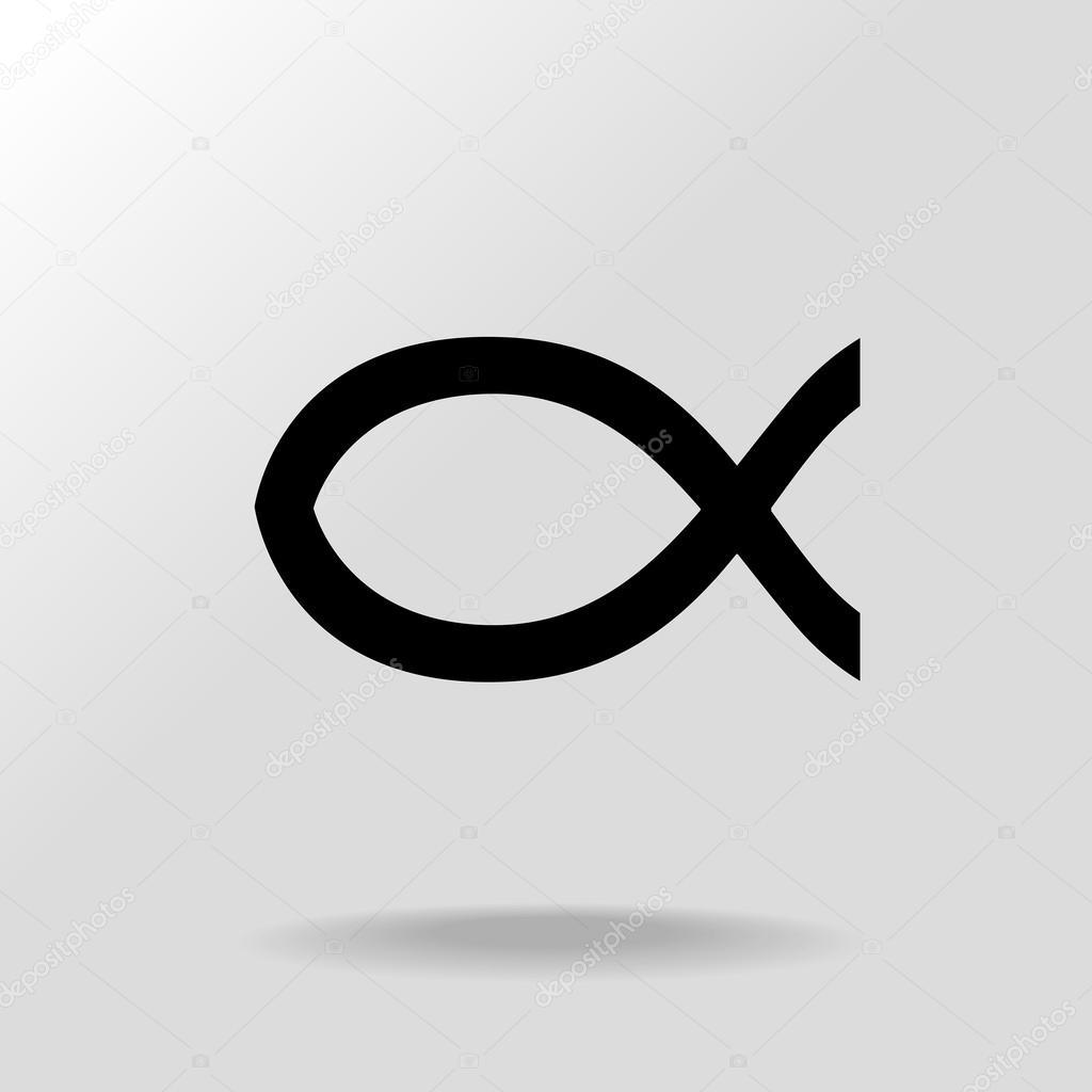 Jesus Christ Fish Symbol Stock Vector Agrino 63444111