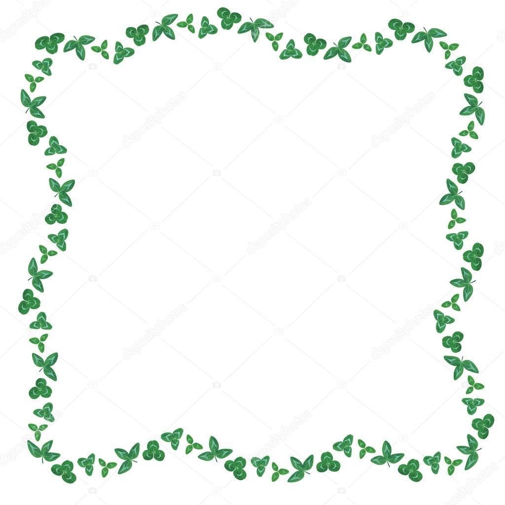 Marco de hojas verdes de tréboles — Vector de stock © agrino #67133903