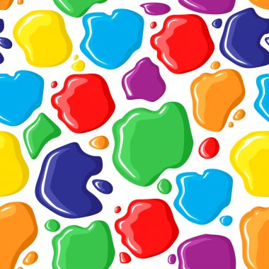 Pattern seamless of paints drops and spots