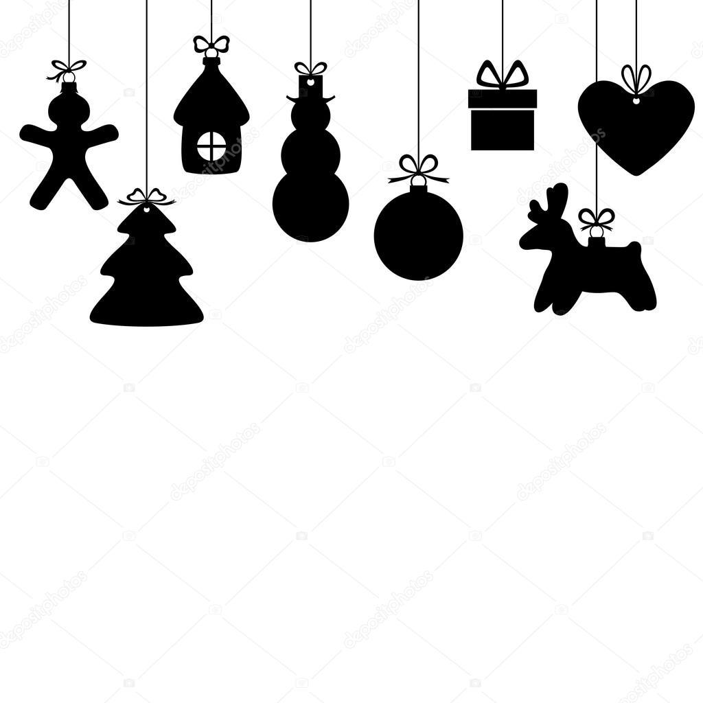 Cart O Com Enfeites De Natal Vetor De Stock Agrino 86593600 -> Enfeites De Fotos