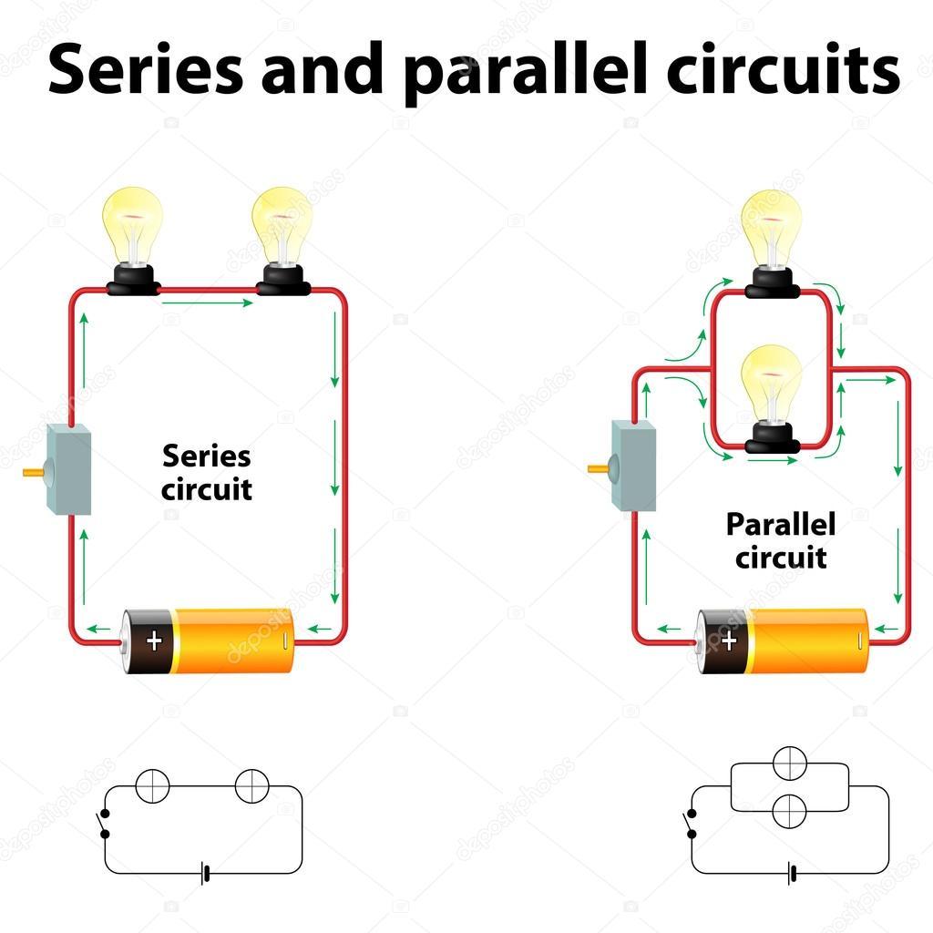 Circuito Paralelo : Circuitos paralelo y serie u archivo imágenes vectoriales