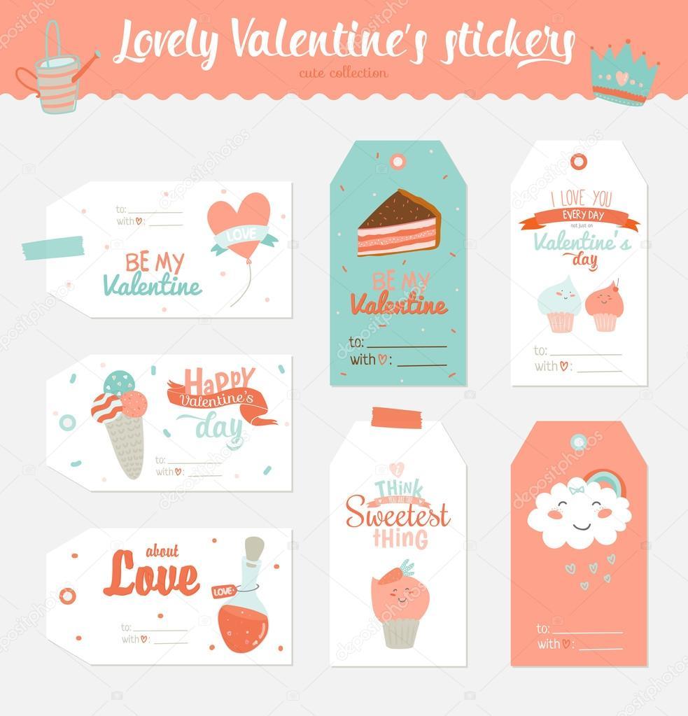 Valentinstag Geschenk-tags — Stockvektor © one7thlifetime #100144368