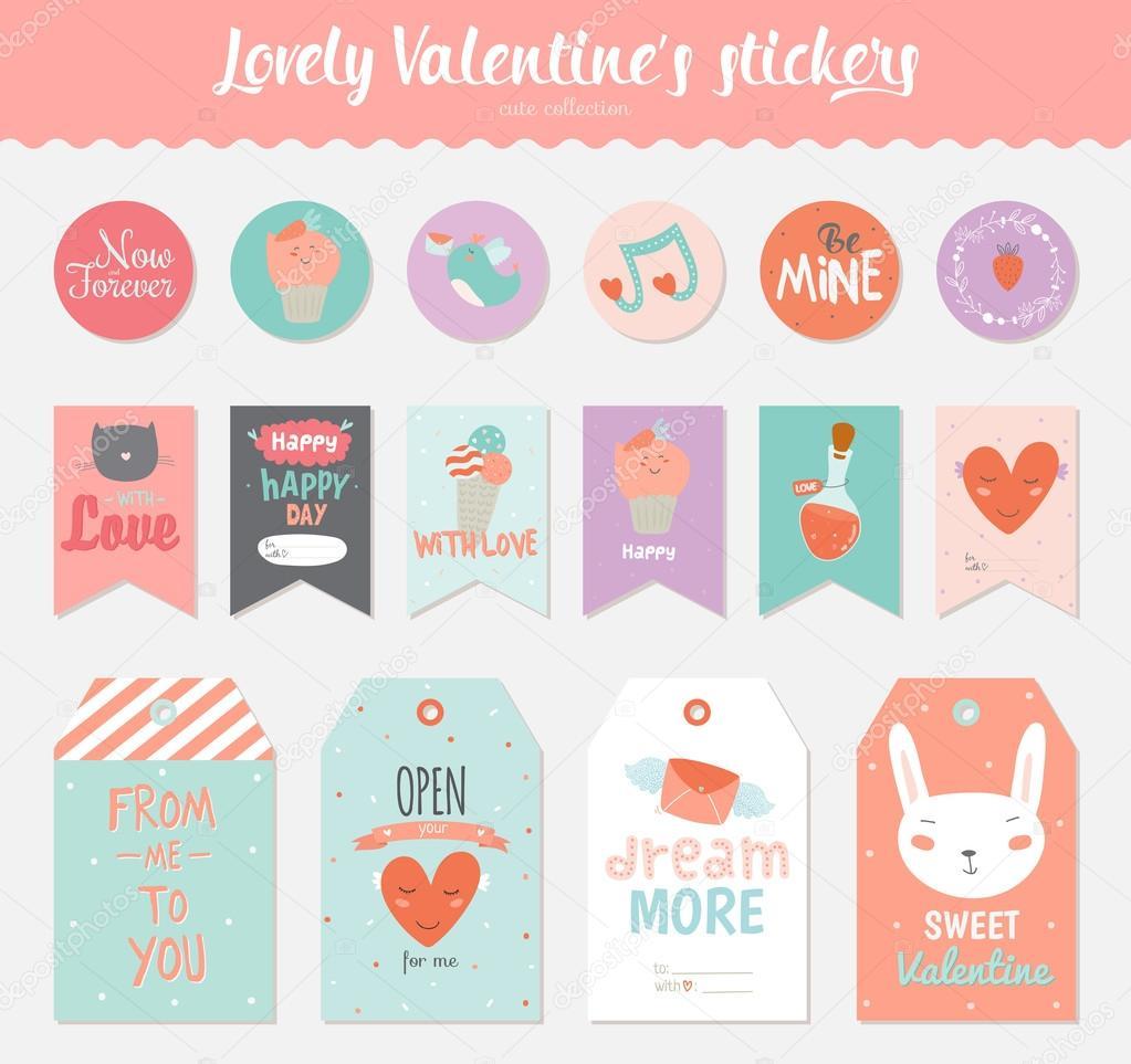 Valentinstag-Etiketten-Vorlage — Stockvektor © one7thlifetime #100144892