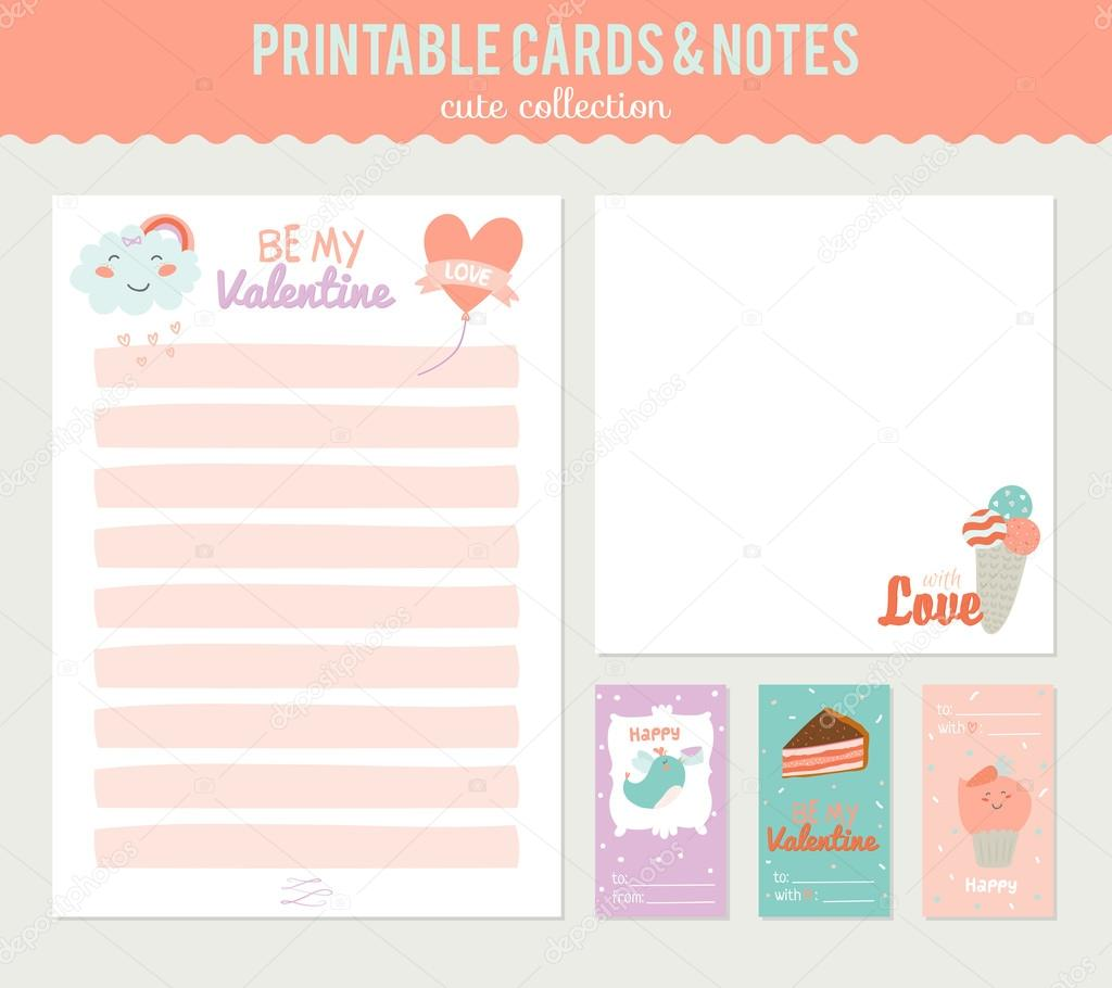 Cute stickers and labels template — Stock Vector
