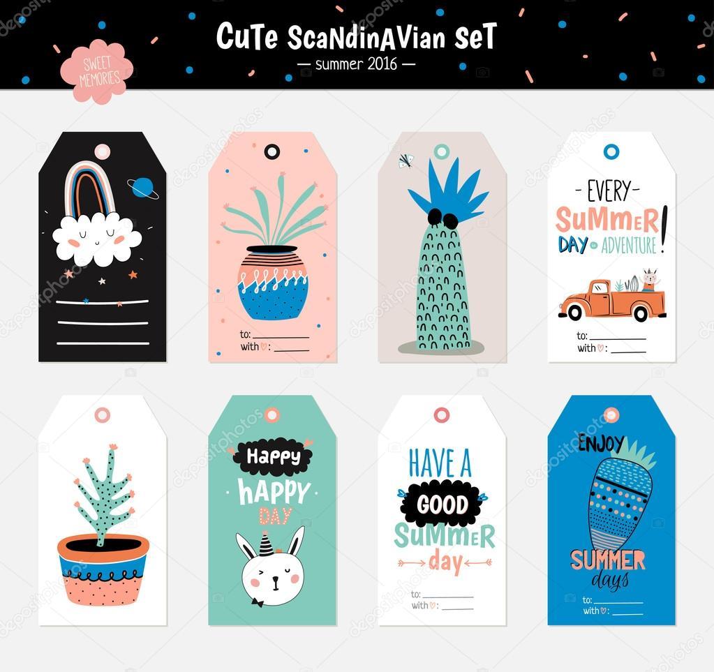 Cute Summer Scandinavian Set