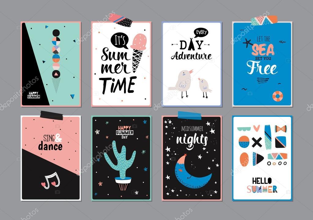 Cute Hello Summer Square Poster