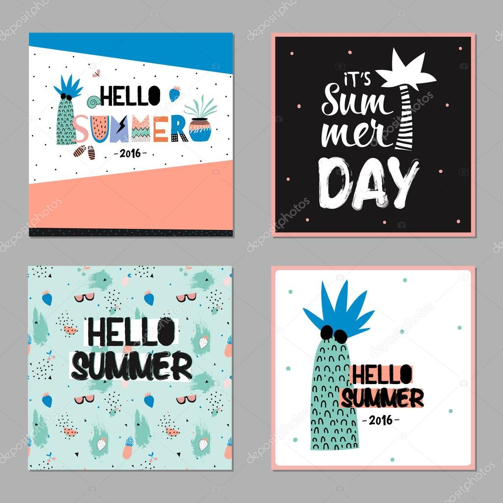 Cute Hello Summer Cards