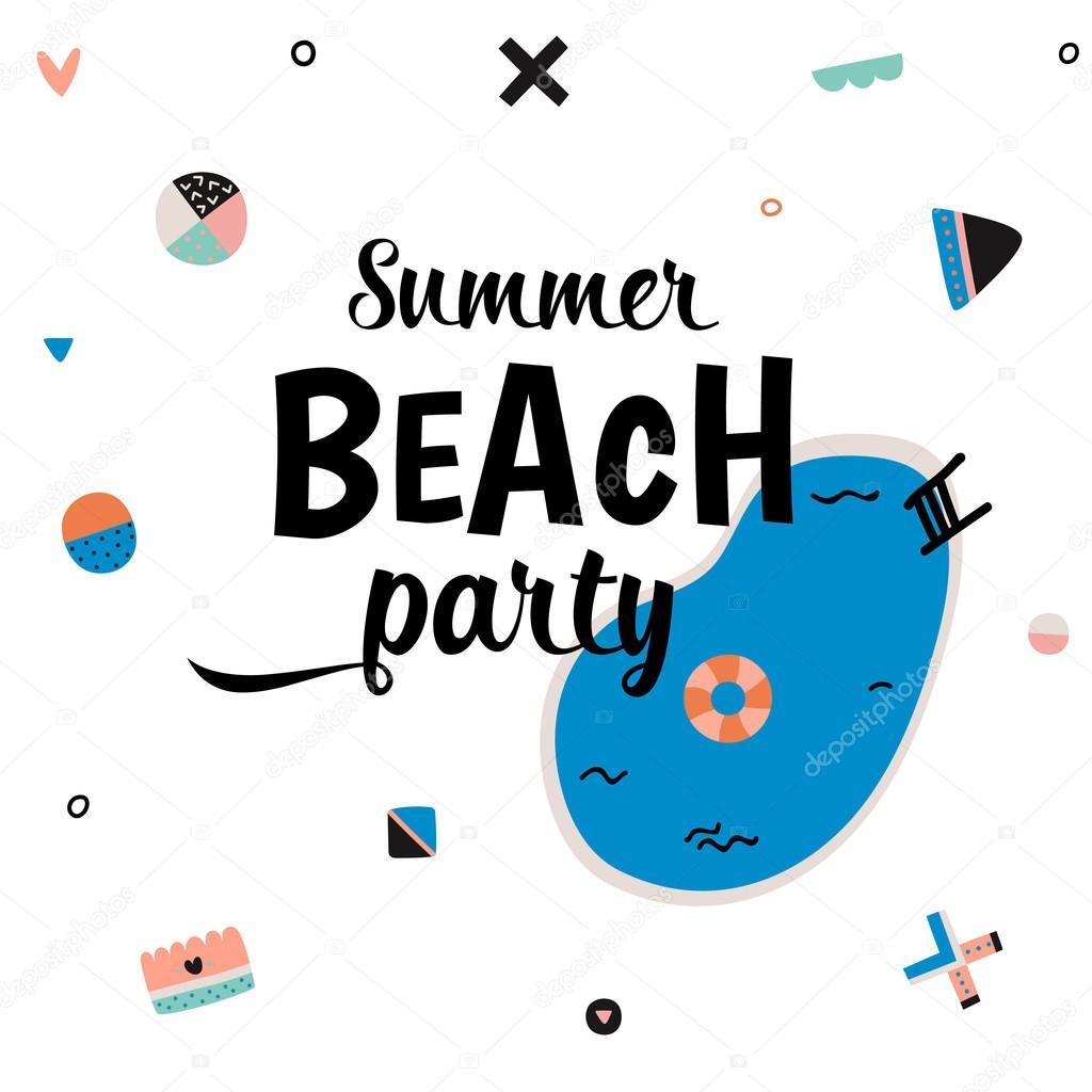 Cute Hello Summer Art Poster