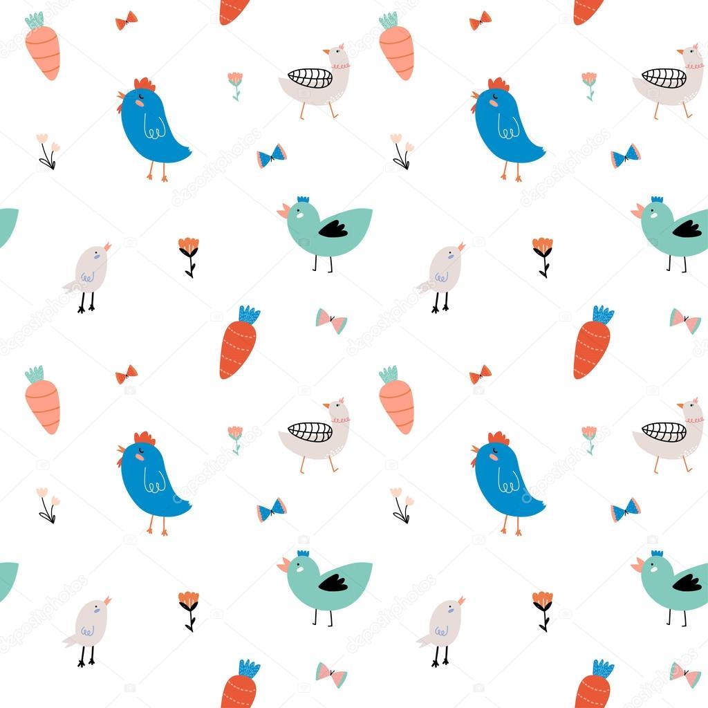 Cute scandinavian seamless pattern