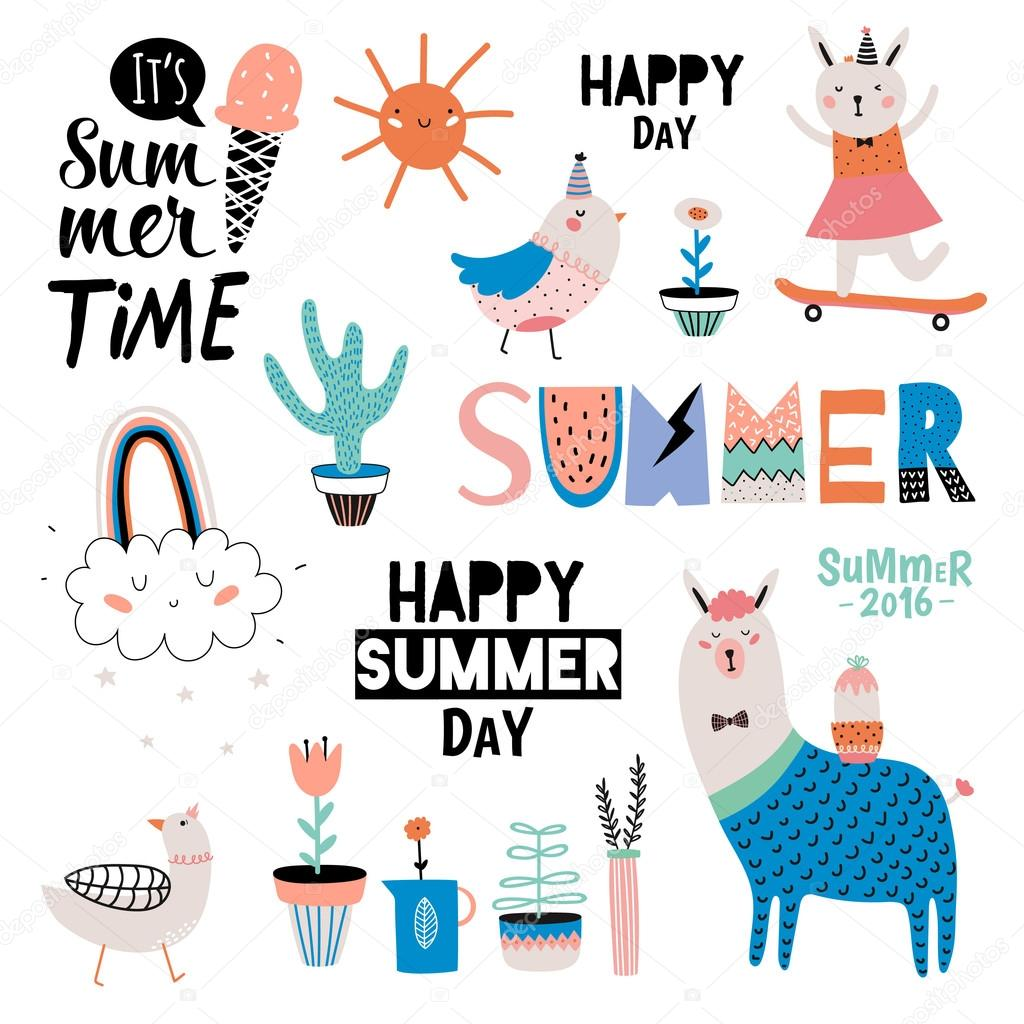 Cute Summer Design Scandinavian Set