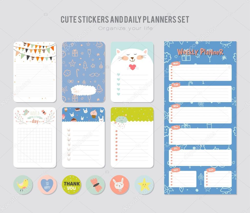 Cute Daily Calendar Template Stock Vector One7thlifetime 121897312