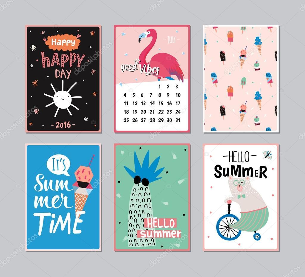 Cute Summer Poster Set