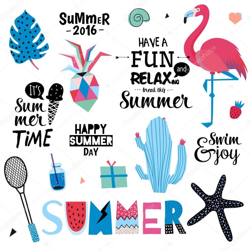 Cute Summer Design Scandinavian Set