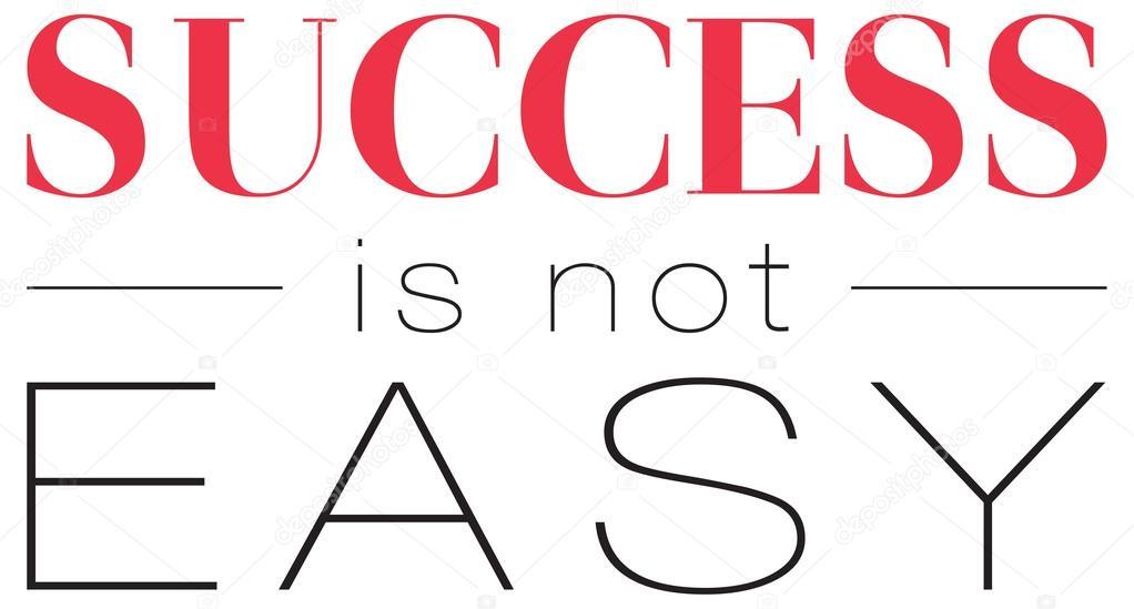 Stylowy Plakat Typograficzne Sukces Nie Jest łatwe Grafika