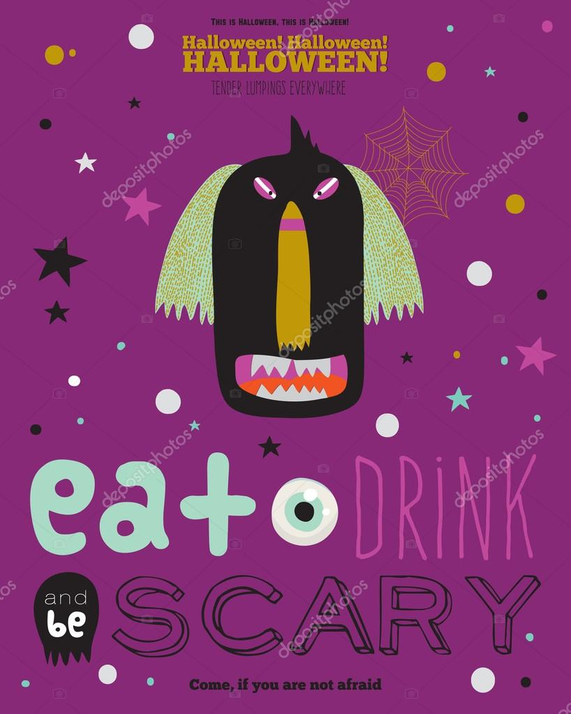 Bright trick or treat card