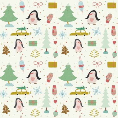 New Year greeting pattern