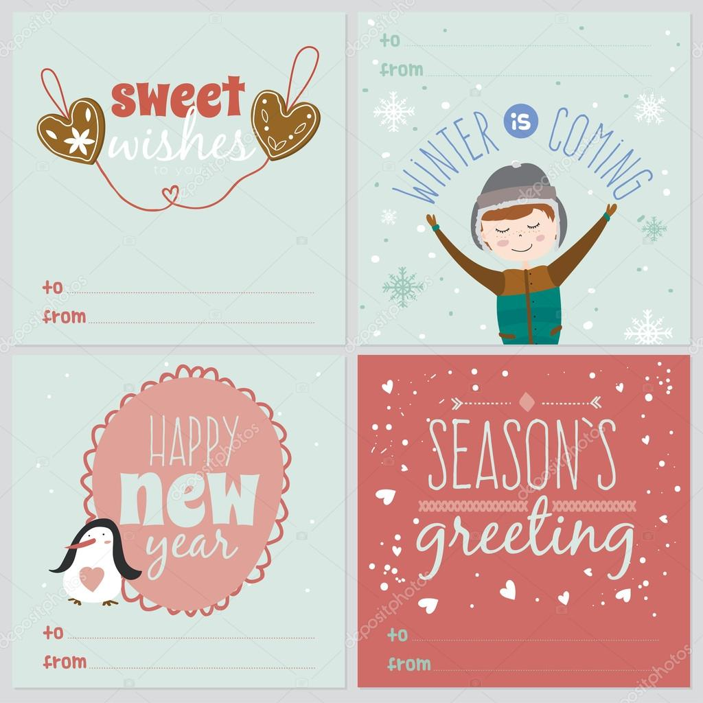 Christmas Greeting Cards Stock Vector One7thlifetime 57808269