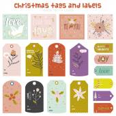 Photo Christmas and New Year stickers with winter elements