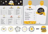 Fotografia Insieme di disegno del menu del ristorante e caffè