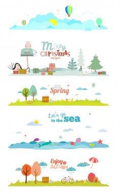 Seasons banners