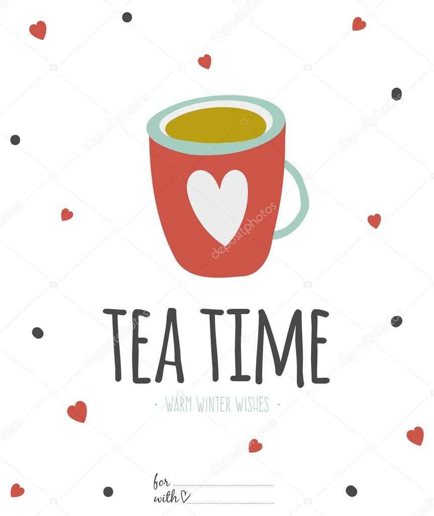 cup of tea or coffee stock vector © onethlifetime