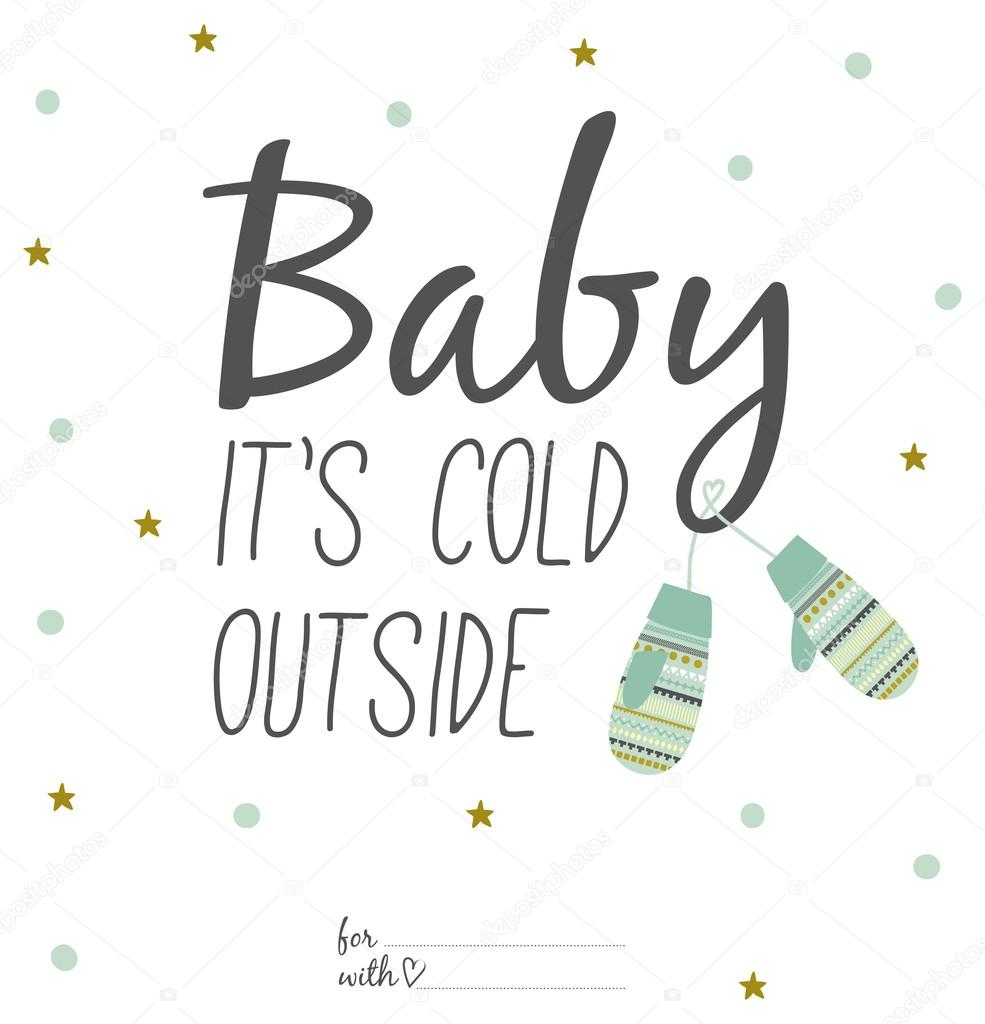 baby its cold outside card � stock vector