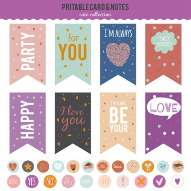 Romantic and love stickers