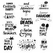 Fotografie Vintage Summer Calligraphic  Lettering