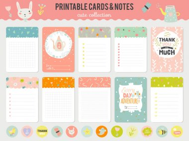Romantic and  Cards, Notes, Stickers