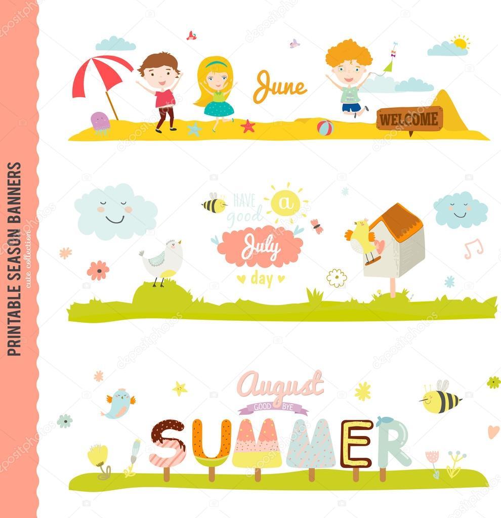 Three Monthly Seasonally  Banners