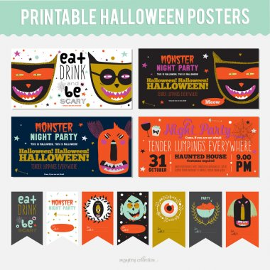 Set Trick or Treat Poster Cards