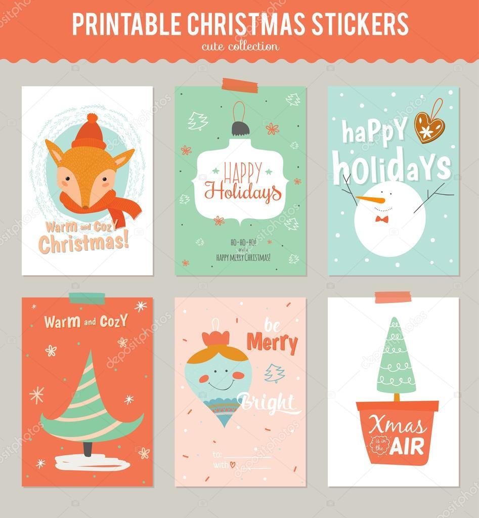 tarjetas de regalo de Navidad — Vector de stock © one7thlifetime ...