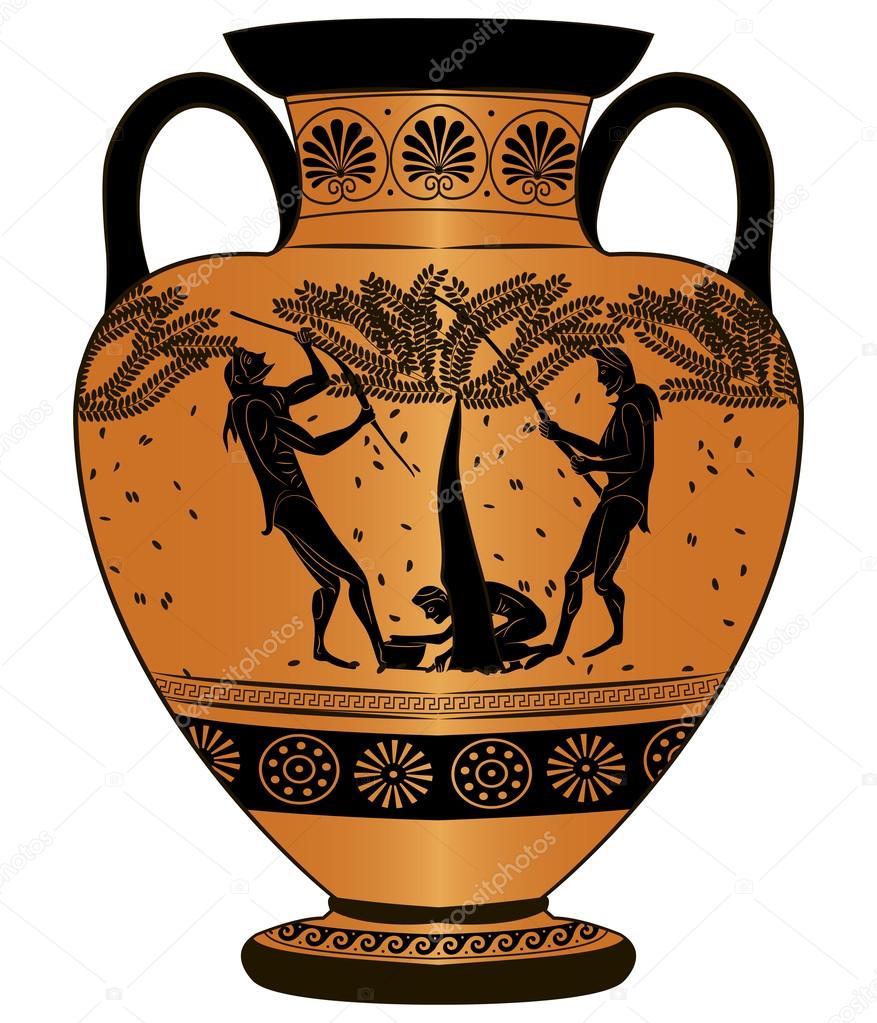 Vaso antico grecia vendemmia vettoriali stock aloxa for Disegno vaso da colorare