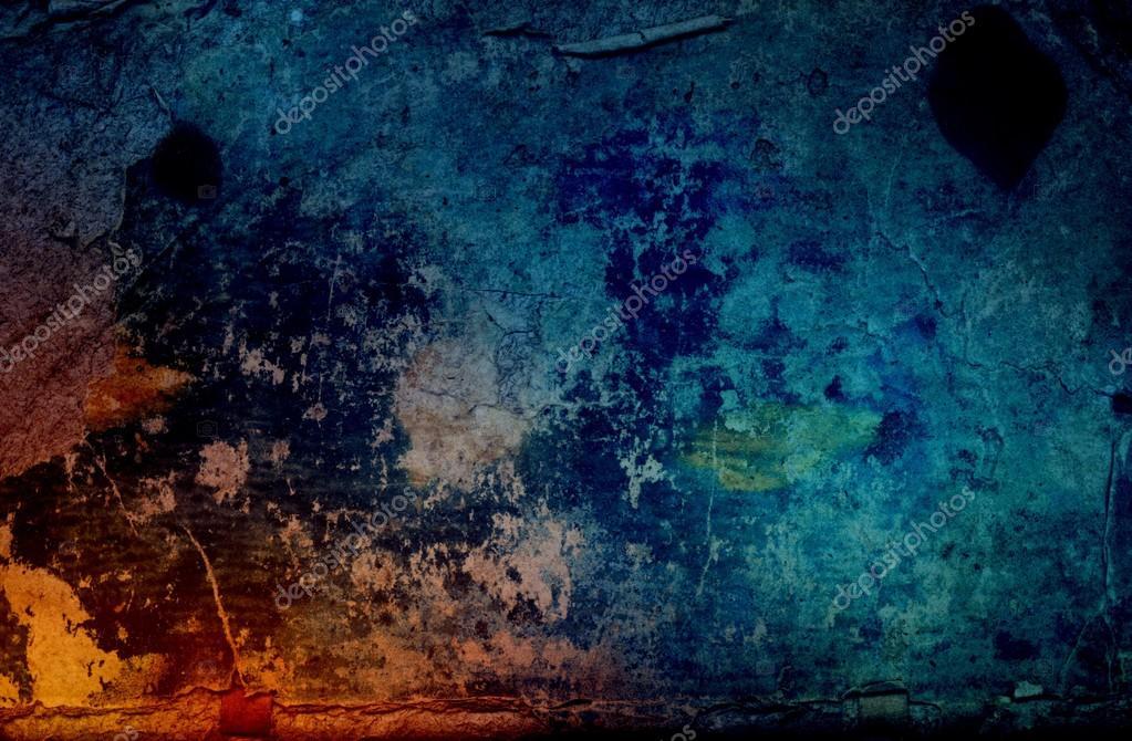 Dark blue old book cover. Rustic grunge texture. Vintage background ...