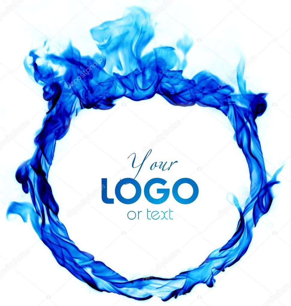 C rculo de llama azul brillante sobre un fondo blanco for Imagenes de gas natural