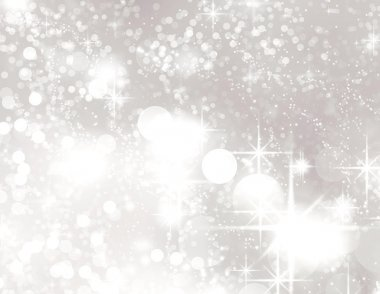 Bright background with silver glitter