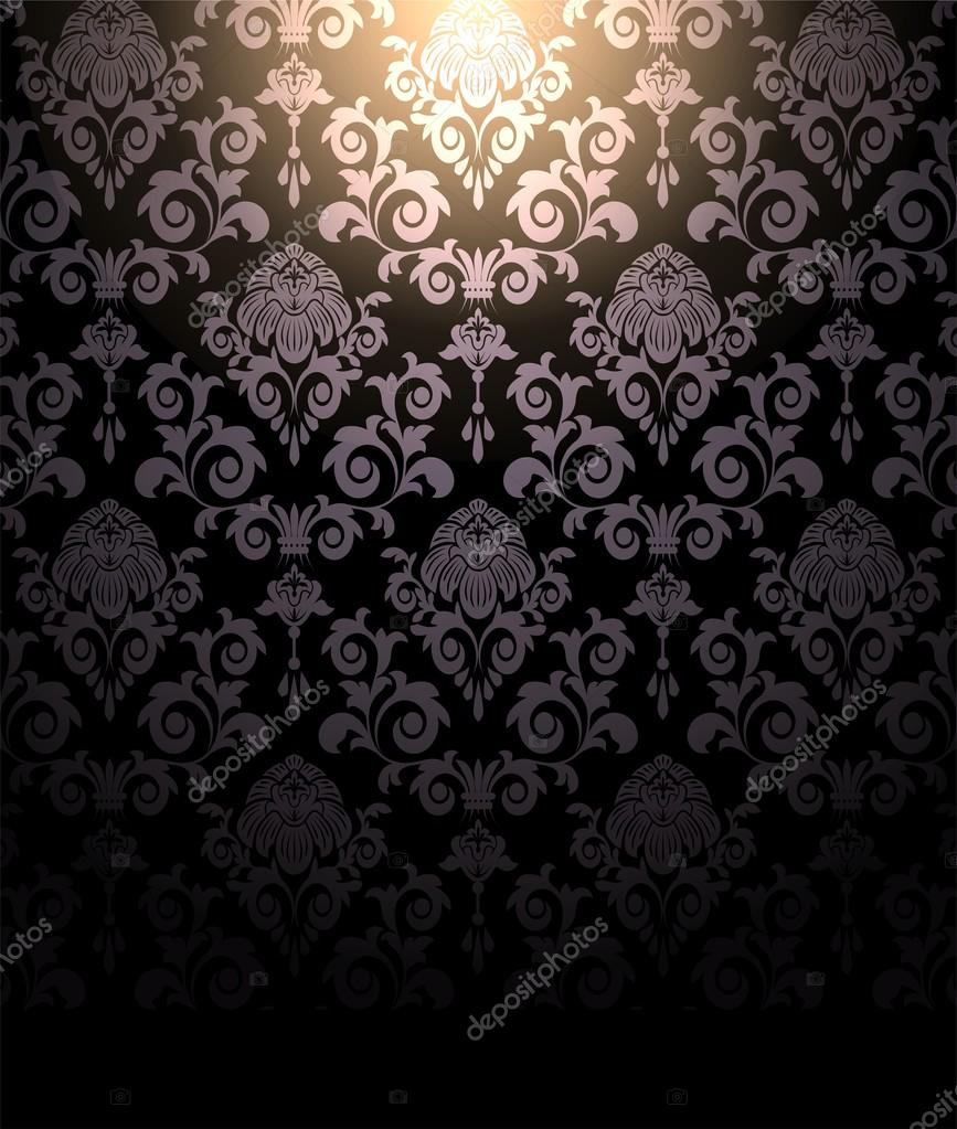 depositphotos 60540743 stock photo dark wallpaper and spot light - Dunkle Tapete