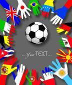 Fotografie Hände von Fußballfans