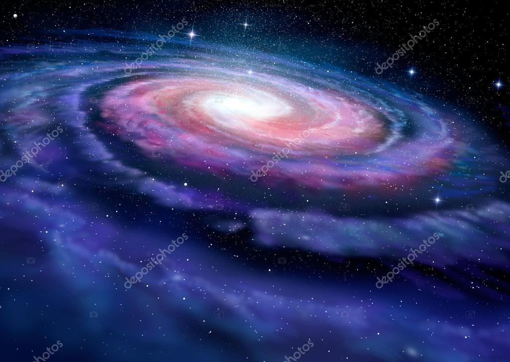 渦巻銀河、天の川のイラスト — ...