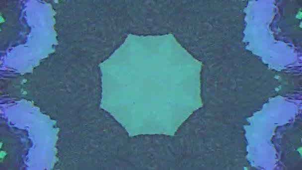 Psychedelické fraktály mandala, pulzující prvky pro abstraktní videa.