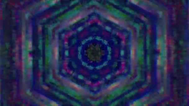 Psychedelic star kaleidoscope, colorful animation for abstract project.