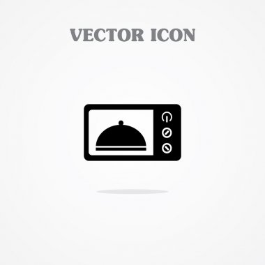 Microwave oven symbol Vector
