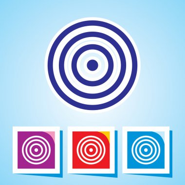 Colorful Icon of Bulls eye clip art vector