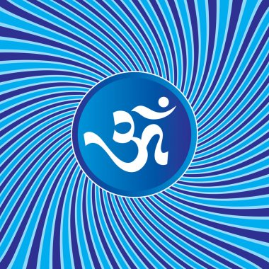 AUM Om Sign On Abstract Background
