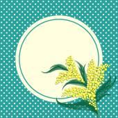 Fényképek MIMÓZA virág kör kerettel