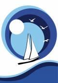 Fotografie Stilisierte Segelboot