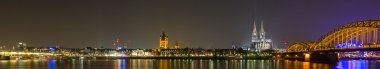 Cologne Cathedral and Night City Skyline