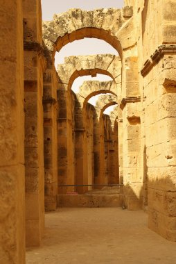 TUNISIA, AFRICA - August 03, 2012: Coliseum in El-Jem in summer